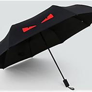레드 / 화이트 / 노란색 접는 우산 써니와 비오는 고무 레이디 / 남성