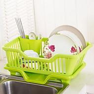 Quality Thick Plastic Multifunctional Kitchen Drain Shelves Dish Rack Storage Rack
