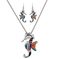voi Polly Euroopassa ja Yhdysvalloissa meren persoonallisuus merihevosia kaulakoru korvakorut asetettu