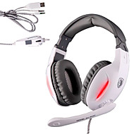Sades SA-902C Fidelity 40mm Neodymium Speakers Transform Glare Gaming Headsets with Microphone