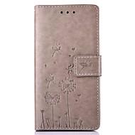 Pour Coque Huawei P9 P9 Lite P8 P8 Lite Mate 8 Porte Carte Avec Support Relief Motif Coque Coque Intégrale Coque Pissenlit Dur Cuir PU