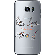 Voor Samsung Galaxy S7 Edge Patroon hoesje Achterkantje hoesje Hond Zacht TPU Samsung S7 edge / S7 / S6 edge plus / S6 edge / S6