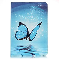 Full Body Card Holder / Wallet Fluorescent Butterfly PU Leather Hard Case Cover For Apple iPad Mini 4 / iPad Mini 3/2/1