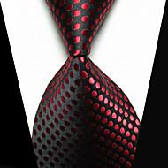 클립 타이 패션 의상 보석 블랙 레드 패브릭 남성용 Tie Bar-