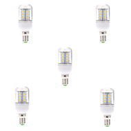 7W E14 LED 콘 조명 T 24 SMD 5730 580LM lm 따뜻한 화이트 / 차가운 화이트 장식 AC 220-240 V 5개