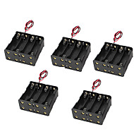5pcs 5 8 пряжки с 9В батареи коробки батарейный блок спина к спине 8AA 12v восемь аа корпус батареи