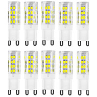10PCS G9 51LED SMD2835 400-500LM Warm White/White Decorative / Waterproof AC220-240V LED Bi-pin Lights