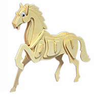 Jigsaw Puzzles 3D Puzzles / Wooden Puzzles Building Blocks DIY Toys Horse Wood Beige Model & Building Toy