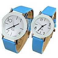 YAZOLE Par je Ručni satovi s mehanizmom za navijanje Casual sat Kvarc / PU Grupa Cool Neformalno Crna Bijela Plava Crvena Smeđa Pink žuta