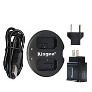 kingma® podwójna ładowarka + ładowarka usb ściany do Sony NP-FW50 baterii alfa 7 a7 7s a6000 NEX-3n nex-n SLT-A33 bateria