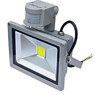 Jiawen vanntett 20w 1800lm pir bevegelsessensor førte flom lys induksjon lampe (ac85-265v)