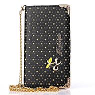 För Samsung Galaxy Note Korthållare Plånbok med stativ Lucka Mönster fodral Heltäckande fodral Enfärgat Hårt PU-läder för SamsungNote 5