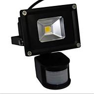 10w førte flom lys lampe hvitt varmt lys pir sensor (ac85-265v)