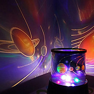 kleur veranderende ster schoonheid sterrenhemel projector nachtlampje (3xAA, willekeurige kleur)