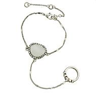 Brățări Ring Bracelets Aliaj Circle Shape La modă Petrecere / Zilnic Bijuterii Cadou Argint,1 buc