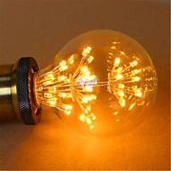 2W E26/E27 LED-globepærer G125 49 DIP LED 800 lm Gul Dekorativ Vekselstrøm 220-240 V 1 stk.