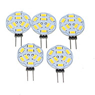 4.5W G4 Spot LED MR11 9 SMD 5730 360-450 lm Blanc Chaud Gradable DC 12 AC 12 V 5 pièces