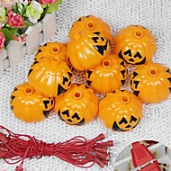 1PC Ted Decoration Supplies Pumpkin Halloween Haunted Bar KTV Skeleton Ghost Head Night Lamp String Lanterns