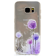 For Transparent Mønster Etui Bagcover Etui Mælkebøtte Blødt TPU for Samsung S7 edge S7 S5 Mini S5