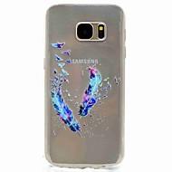 용 패턴 케이스 뒷면 커버 케이스 깃털 소프트 TPU 용 Samsung S8 S7 edge S7 S5 Mini S5