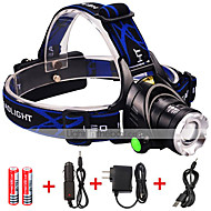 Beleuchtung LED Taschenlampen LED 3000 lumens Lumen 3 Modus Cree XM-L2 18650einstellbarer Fokus / Wasserdicht / Wiederaufladbar /