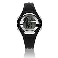 Vilam Barn Sportsklokke Armbåndsur Digital Watch Digital LCD Kalender Vannavvisende Stoppeklokke Plast BandTegneserie Glitrende Punkt