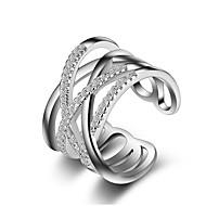 Γυναικεία Βέρες Δαχτυλίδι για τη μέση των δαχτύλων Κρυστάλλινο απομίμηση διαμαντιών Μοναδικό Love Μοντέρνα crossover κοστούμι κοστουμιών