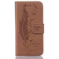 Varten Flip Etui Kokonaan peittävä Etui Höyhen Kova Tekonahka Samsung S7 edge / S7 / S6 edge / S6 / S5