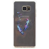 μοτίβο φτερό υψηλή διαπερατότητα περίπτωση υλικό TPU τηλέφωνο για Samsung Galaxy σημείωση 5