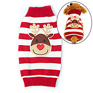 Gatos / Perros Suéteres Rojo Ropa para Perro Invierno Venados Mantiene abrigado / Navidad