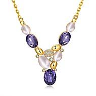 Női Gyöngy Cirkonium Arannyal bevont Üveg Rózsa arany bevonattal utánzat Diamond Egyedi Függő Gyöngyutánzat Divat Bohemia stílus