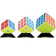 Yongjun® Cube de Vitesse  2*2*2 3*3*3 4*4*4 Vitesse Niveau professionnel Soulage le Stress Cubes magiques Blanc Autocollant lisse Guanlong