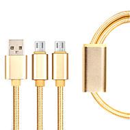 Micro USB 3.0 Gevlochten Kabel Voor Samsung / Huawei / Sony / Nokia / HTC / Motorola / LG / Lenovo / Xiaomi 14*5*1 cm Nylon