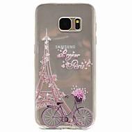 For Mønster Etui Bagcover Etui Eiffeltårnet Blødt TPU for Samsung S8 S7 edge S7 S5 Mini S5