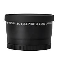52mm 2.0x téléobjectif pour nikon d90 D80 D700 D3000 D3100 D3200 d5000 d5100 D5200 18-55mm caméras DSLR