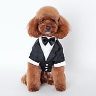고양이 강아지 턱시도 강아지 의류 귀여운 코스프레 웨딩 리본매듭 블랙