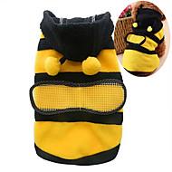 Koty Psy Kostiumy Bluzy z kapturem Ubrania dla psów Lato Wiosna/jesień Wzór zwierzęcy Urocze Cosplay Yellow