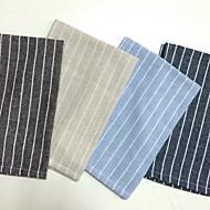 Neliö Striped Placemats , Linen materiaali Taulukko Dceoration 4