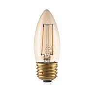 2w e26 ledede glødelampe pærer b10 2 kob 160 lm gult dimbar 120v 1 stk
