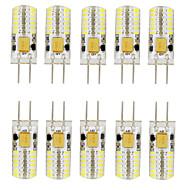 10PCS G4  48LED SMD3014 140-160LM DC12V Warm White/White/Natural White Decorative / Waterproof LED Bi-pin Lights