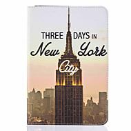 Για Θήκη καρτών / με βάση στήριξης / Ανοιγόμενη / Με σχέδια tok Πλήρης κάλυψη tok Θέα της πόλης Σκληρή Συνθετικό δέρμα AppleiPad Mini 4 /