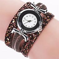 Xu™ 아가씨들 패션 시계 손목 시계 석영 PU 밴드 빈티지 캐쥬얼 블랙 화이트 블루 레드 브라운 핑크 아이보리