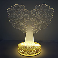 High Quality Best Kids Gift 3D Illusion Heart Tree Design Night light
