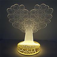 hög kvalitet bästa barn gåva 3d illusion hjärta träddesign nattlampa