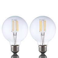 3.5 E26 LED Λάμπες Πυράκτωσης G80 4 COB 350 lm Θερμό Λευκό Με Ροοστάτη AC 110-130 V 2 τμχ