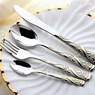 Rostfritt stål 304Middagsgaffel / Middagskniv / Tesked / Set / Såsslev / Serveringsskedar / Köttgaffel / Dessertsked / Specialgaffel /