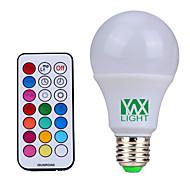 10W E26/E27 LED-pallolamput 12 SMD 600-800 lm Neutraali valkoinen / RGB Himmennettävä / Kauko-ohjattava / Koristeltu V 1 kpl
