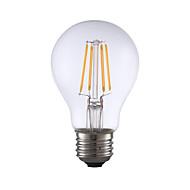 4W E26 フィラメントタイプLED電球 A60(A19) 4 COB 350 lm 温白色 明るさ調整 AC 110-130 V 1個