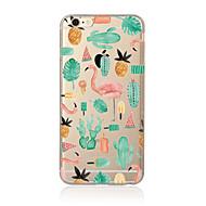 Til Etui iPhone 7 Etui iPhone 6 Etui iPhone 5 Gjennomsiktig Mønster Etui Bakdeksel Etui Dyr Myk TPU til AppleiPhone 7 Plus iPhone 7