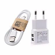 5V الإضافية 3.1a الموانئ USB مزدوج الاتحاد الأوروبي محول شاحن الجدار مع 1M V8 كابل مايكرو USB لسامسونج إل جي سوني هواوي XIAOMI جوجل بكسل